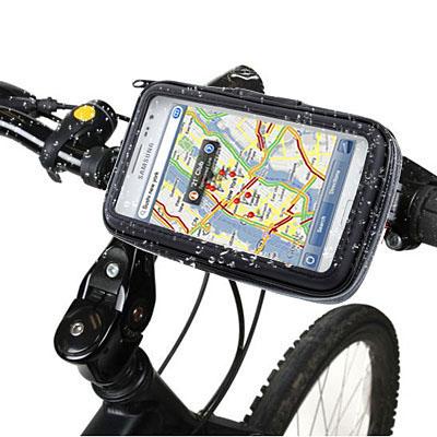 Fahrrad-Motorrad-Smartphonetasche-Halterung-Wasserfest-Navi-Handy-Tasche