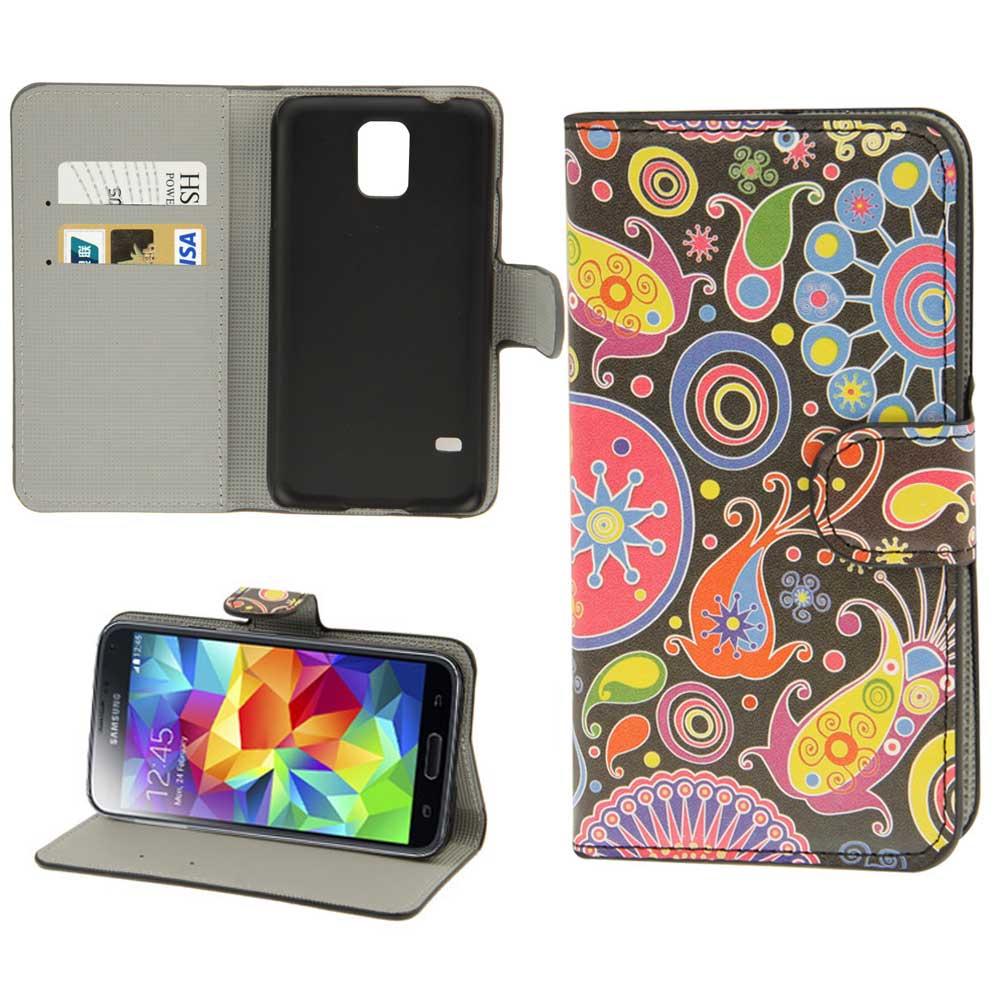 Fuer-Samsung-Galaxy-S5-Tasche-Schutz-Huelle-Wallet-Flip-Case-Farbauswahl